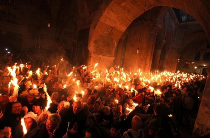 Известување за пристигнувањето на благодатниот оган во Р. Македонија