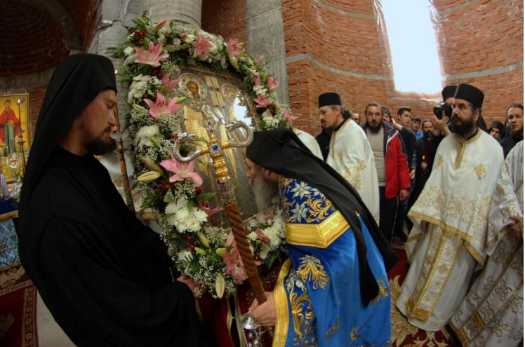 Проповед на отец Партениј од првата Литургија  во скитот на  Светите Кирил и Методиј